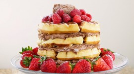 Waffle Cake Wallpaper For PC