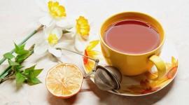 4K Tea With Lemon Desktop Wallpaper For PC