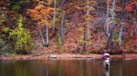 Autumn Fishing Wallpaper