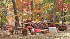 Autumn Picnic Desktop Wallpaper
