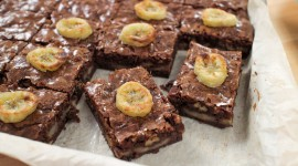 Brownie With Bananas Wallpaper Free