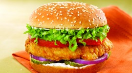 Chicken Burger Desktop Wallpaper For PC