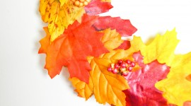 Diy Autumn Leaf Garland Photo Free