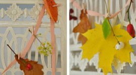 Diy Autumn Leaf Garland Pics