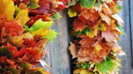 Diy Autumn Leaf Garland Wallpaper Android