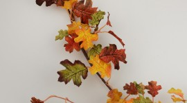 Diy Autumn Leaf Garland Wallpaper IPhone#2
