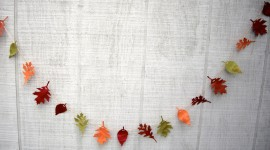 Diy Autumn Leaf Garland Wallpaper Full HD