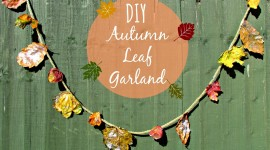Diy Autumn Leaf Garland Wallpaper HQ