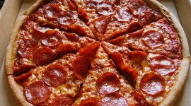 Pepperoni Pizza Desktop Wallpaper For PC