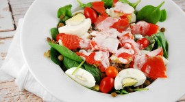Salad With Salmon Photo Download