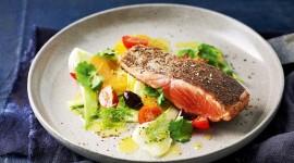 Salad With Salmon Photo Free#1