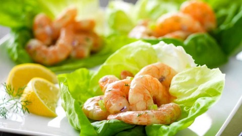 Salad With Shrimp wallpapers high quality