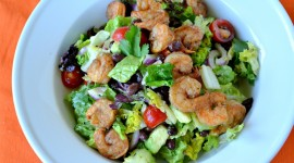 Salad With Shrimp Desktop Wallpaper HD
