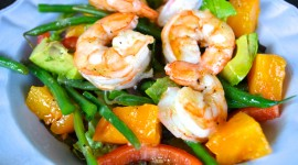 Salad With Shrimp Wallpaper