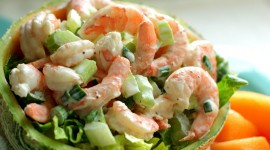 Salad With Shrimp Wallpaper Download
