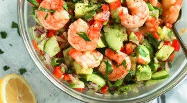 Salad With Shrimp Wallpaper For Android
