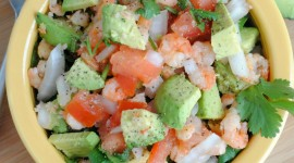 Salad With Shrimp Wallpaper For IPhone#1