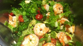 Salad With Shrimp Wallpaper Free