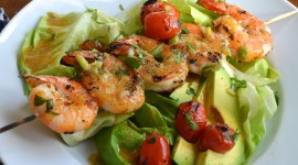 Salad With Shrimp Wallpaper Full HD