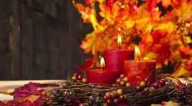 Autumn Candles Best Wallpaper