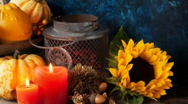 Autumn Candles Desktop Wallpaper For PC