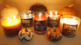 Autumn Candles Photo