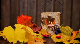 Autumn Candles Photo Download