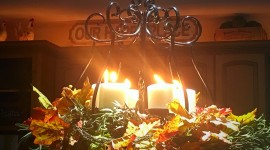 Autumn Candles Photo Free