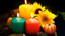 Autumn Candles Wallpaper