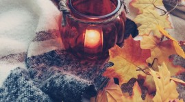 Autumn Candles Wallpaper Download
