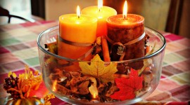 Autumn Candles Wallpaper For Desktop