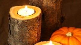 Autumn Candles Wallpaper For IPhone