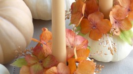 Autumn Candles Wallpaper For Mobile