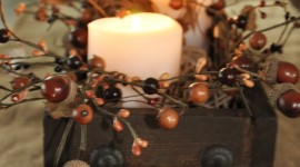 Autumn Candles Wallpaper For Mobile#1