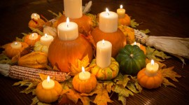 Autumn Candles Wallpaper For PC