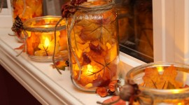 Autumn Candles Wallpaper Free
