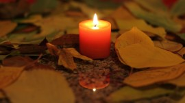 Autumn Candles Wallpaper HQ