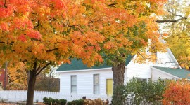 Autumn In The Village Desktop Wallpaper HD