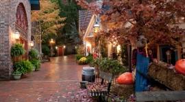 Autumn In The Village Wallpaper