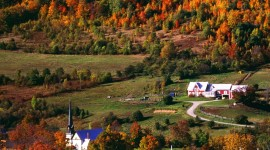 Autumn In The Village Wallpaper For Android