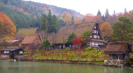 Autumn In The Village Wallpaper For PC