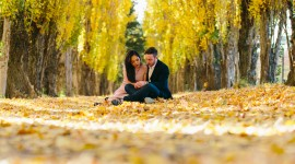 Autumn Love Story Wallpaper For Android