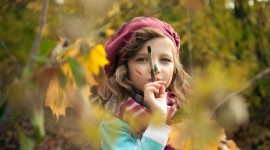 Children Playing In Autumn Leaves Wallpaper HQ