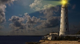 Lighthouse 4K Desktop Wallpaper Free