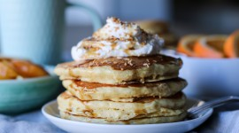 Pancakes With Maple Syrup Wallpaper