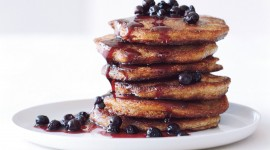 Pancakes With Maple Syrup Wallpaper Background