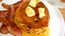 Pancakes With Maple Syrup Wallpaper Download Free