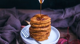 Pancakes With Maple Syrup Wallpaper For IPhone Download