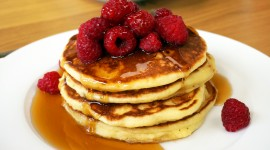 Pancakes With Maple Syrup Wallpaper Free
