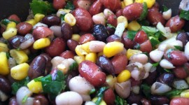 Salad With Beans Photo Free